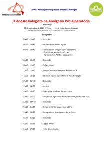 Workshop-O-Anestesiologista-na-Analgesia-Pós-Operatória-Programa 2017